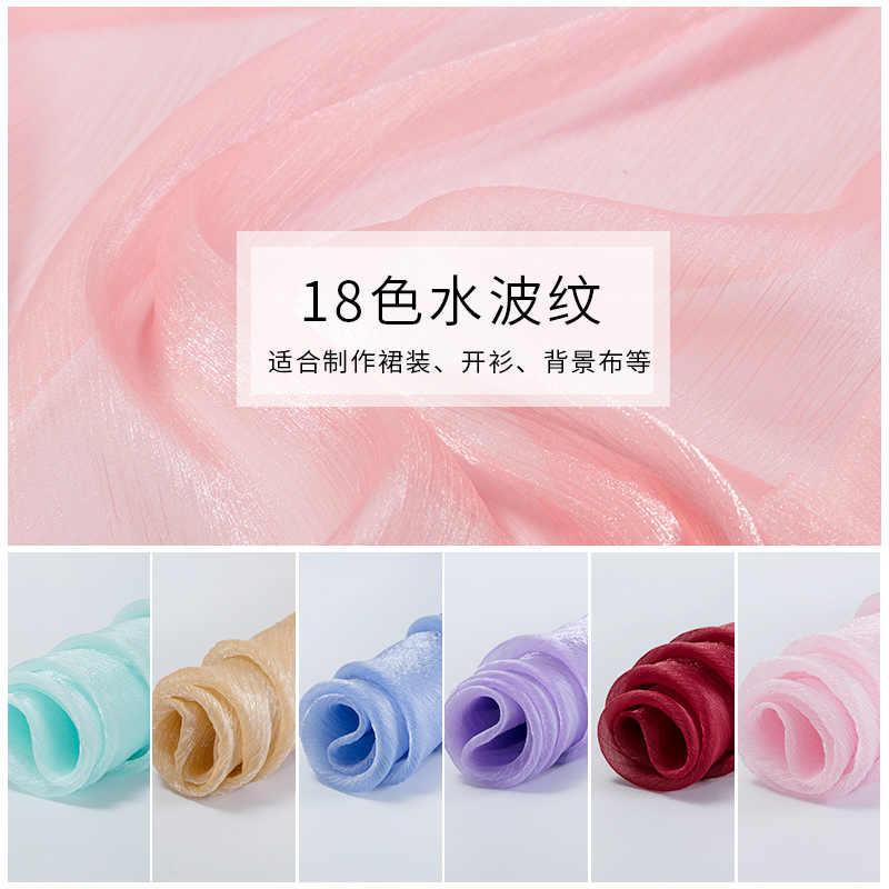 Organza Crepe chiffon stoff nylon gewebe weich für Sommer können sehen durch stoff hochzeit dekoration TJ0316