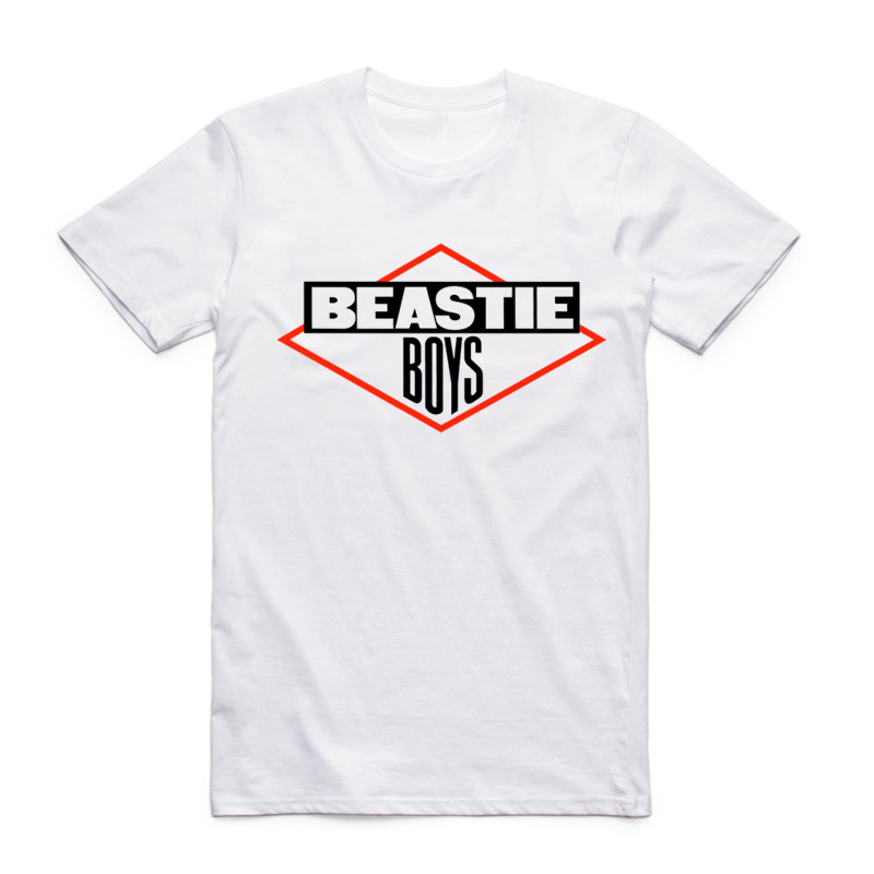 Asian size Fashion Men Print Beastie Boys Cool   T  -  shirt   O-Neck Short Sleeves Hip Hop Music   T     Shirt   Hipster Tops Tees Harajuku
