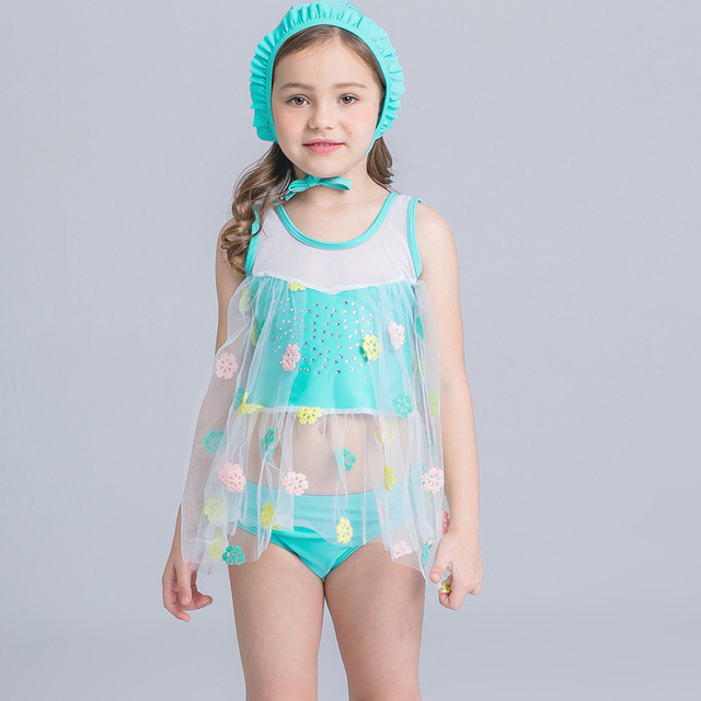 2722b2b7e9 2017 Bikini junior girls swimsuit cute little fish swimming suit infant  Girl Children Bathing Suit For Girls African Swimwear