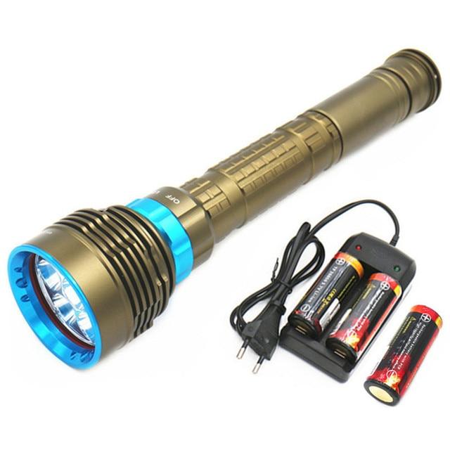 Lumière Led Plongée Lampe Poche 26000 Étanche 7l2 De Lumens Y76ybfg