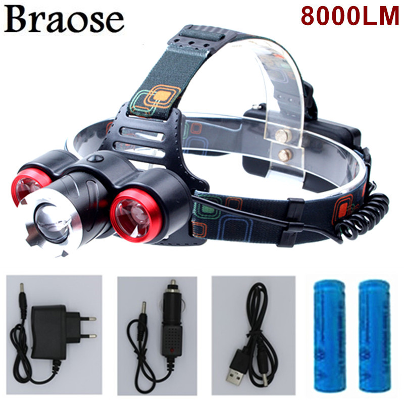 Bright LED Zoomable Head Torch Headlamp Outdoor Cycling Camping Flashlight AU H3