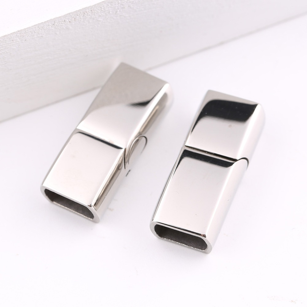onwear 5pcs stainless steel magnetic clasps for leather bracelets making diy jewelry making magnet connectors hole 5x8mm 2pcs 316 stainless steel jewelry connector leather clasps for diy leather cord necklaces bracelets jewelry making