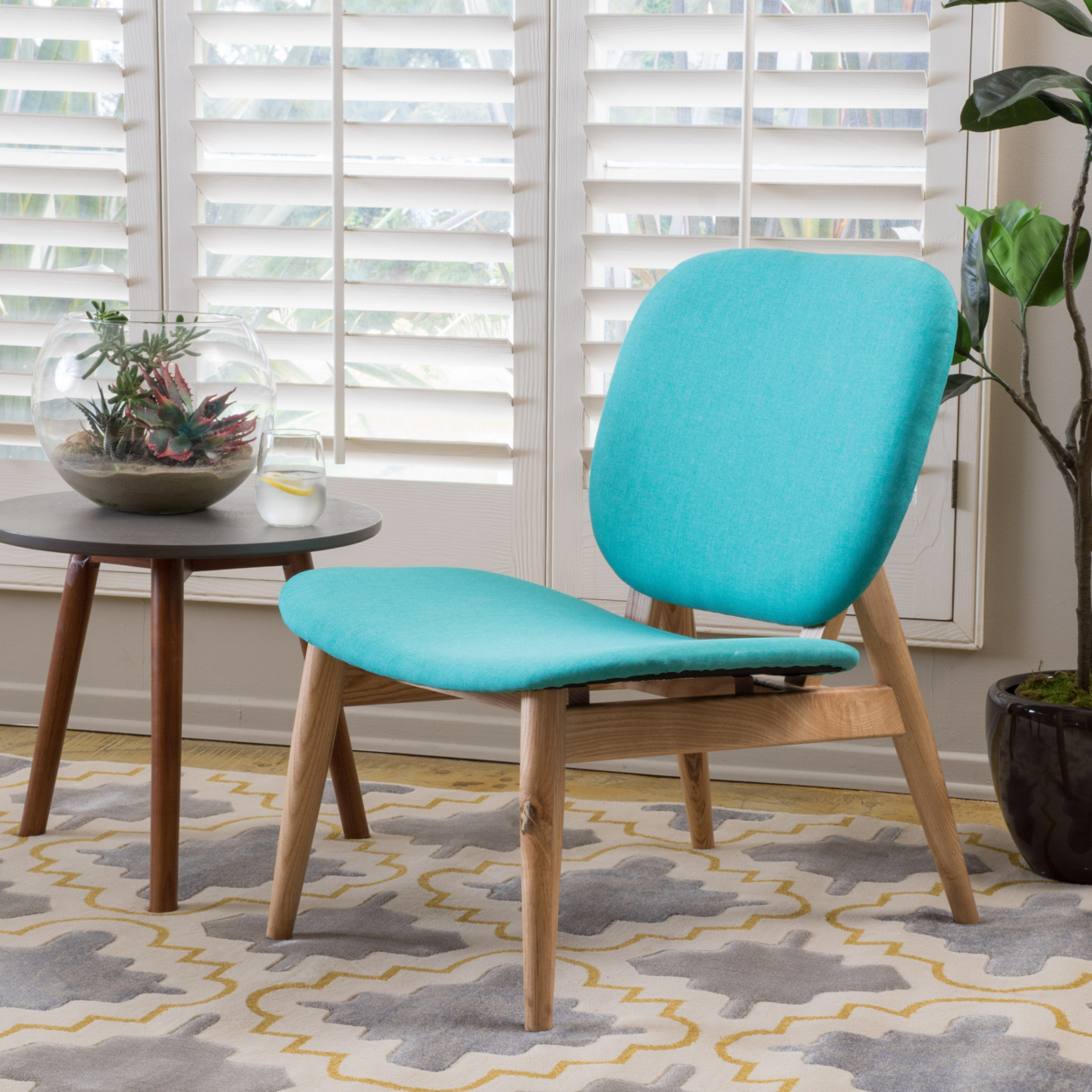 Anso Contemporary Teal Color Fabric Accent Chair anso contemporary teal color fabric accent chair
