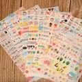 Nova Adorável 6 Folha de Adesivos De Papel para Scrapbook Diário Livro Decoração Da Parede Para A Decoração Dos Desenhos Animados Adesivos