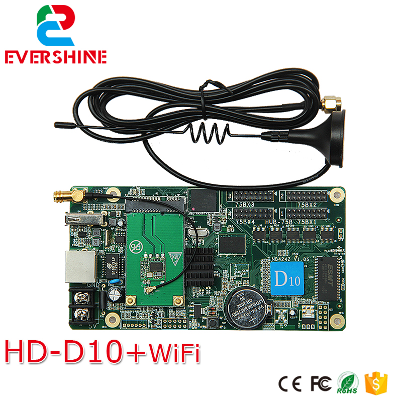 New! D10 HD-D10+ Wifi module rgb led sign controller card for Windows, Taxi, advertising led screen цена