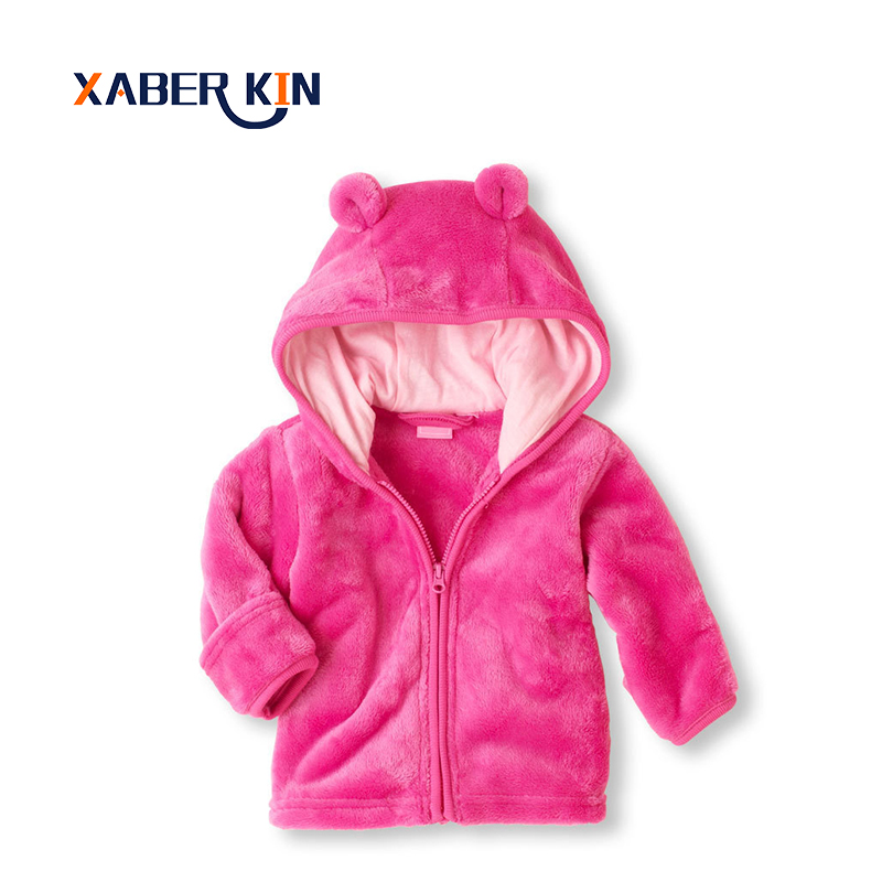 Xaber Kin New 2017 Baby Girls Jackets Spring Autumn Solid Velvet Girls Jackets 3-12M Baby Coat Newborn Baby Boys Outerwear CC851