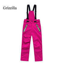 Grizzilla kids Professional Winter Ski Pants Girls/boys Warm Waterproof Snow Skiing Snowboard Pants Outdoor Trousers Brand