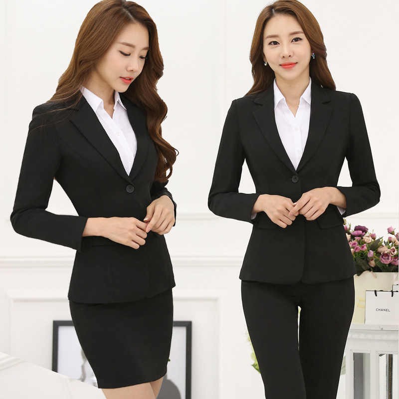 2018 new Spring and winter wear suits suits womens suits are installed long-sleeved suits skirt overalls