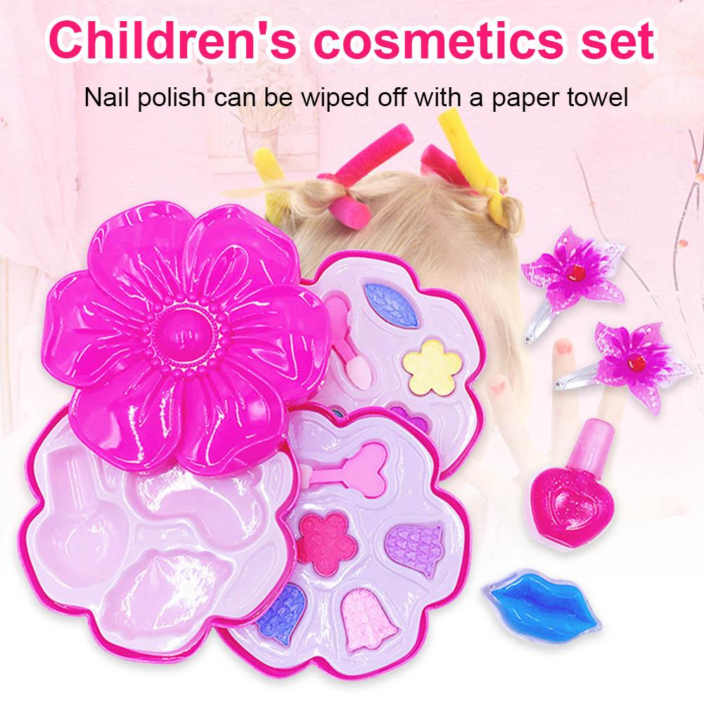 1 Set Kinder Kinder Make-up Kosmetik Spielzeug Pretend Rolle Spielen Sicherheit Mode Geschenk 998 Schnelle Farbe