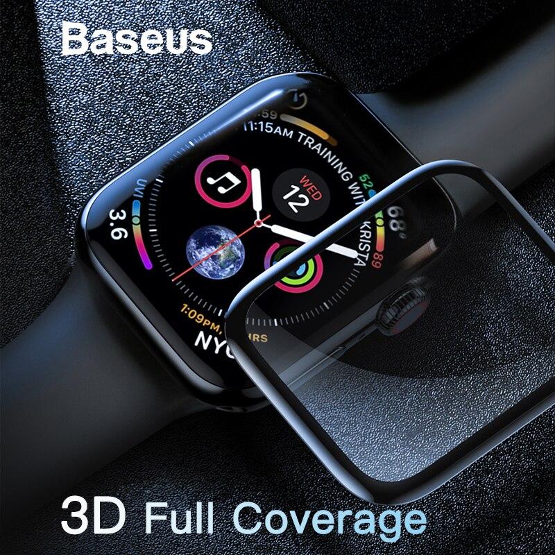 Baseus 0,3mm Schutz Glas Für Apple Uhr 4 Volle Abdeckung Aus Gehärtetem Glas Für iWatch 4 Screen Protector Scratch Proof film 9 H