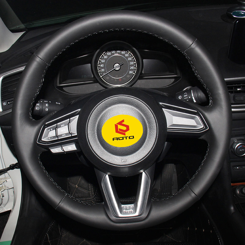 Braid on the Steering Wheel Cover for Mazda 3 Axela 2017 Mazda 6 Atenza 2017 2018 CX 5 CX5 2017 Mazda Tampa do volante do carro in Steering Covers from Automobiles Motorcycles