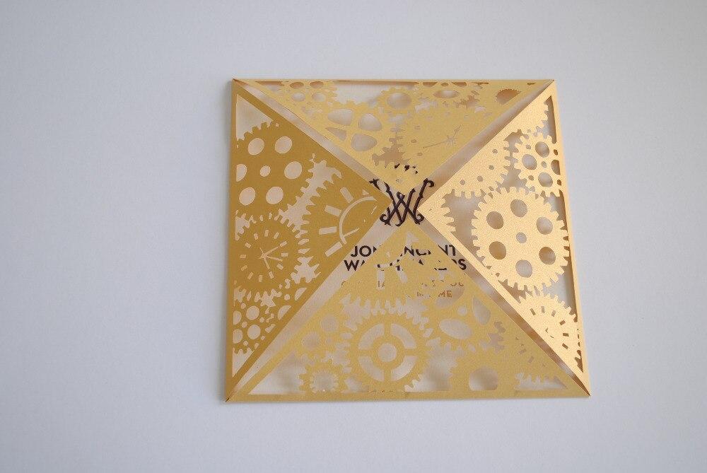 50pcs/lot Laser Cut Wedding Invitations Blank Inner Sheet Birthday Invitation  Cards Party Supplies Stock