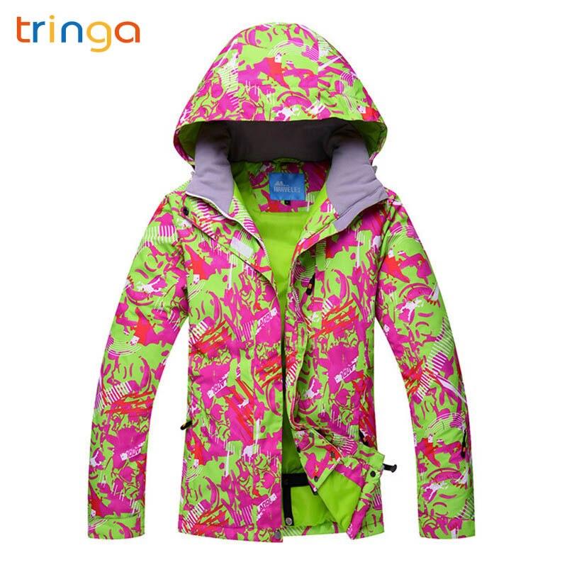 TRINGA marques femmes hiver extérieur coupe-vent imperméable veste de Ski de montagne neige Snowboard vestes d'hiver chaud sports vestes