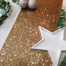 Frigg Glitter Sequin Table Cloth Gold Wedding Birthday Party Tablecloth Sparkly Rectangular Tables Cover Champagne Runner