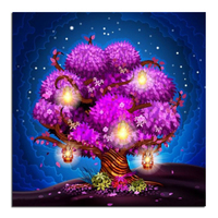 Diamond Embroidery Dream Is The Tree Of Life 50X50 Diy Diamond Square Drill Rhinestone Pasted Crafts