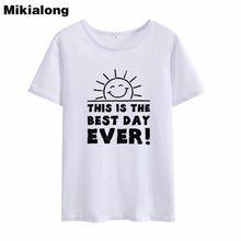 a6079e5dbd8e Mikialong 2018 Graphic Tee Shirt Women Summer Short Sleeve Black White  T-shirts Women T Shirts Ulzzang Harajuku Tshirt Top Mujer