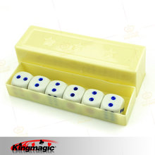 Prediction Dices Normal Six Dices/Box 6 Dice Flash Change Close Up Magic Props