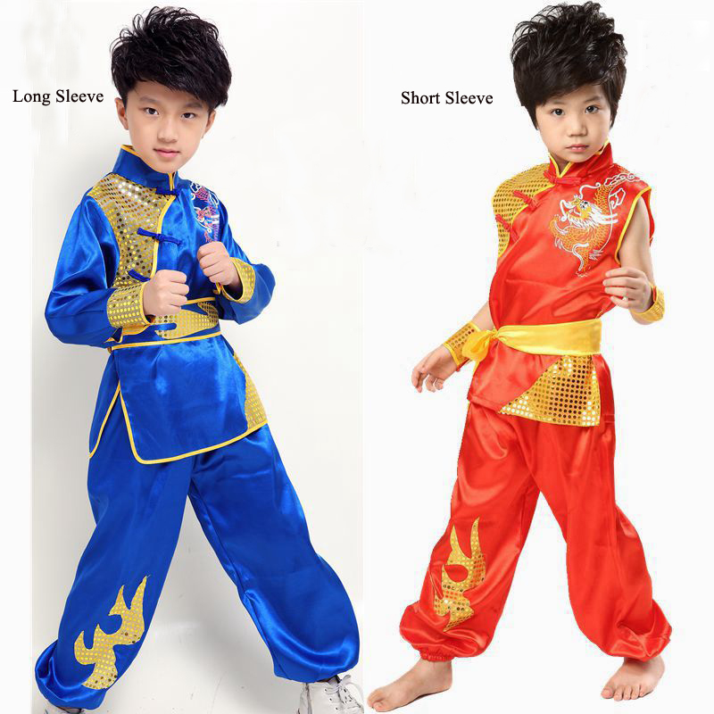 High Quality Child Chinese Folk Clothes Children Gongfu Costume With Dragon Boy Kung Fu Performance Costume With Belt WZM160014-in Chinese Folk Dance from ...  sc 1 st  AliExpress.com & High Quality Child Chinese Folk Clothes Children Gongfu Costume With ...