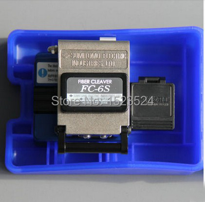 Brand New Recipiente FC-6S High Precision Optical Fiber Cleaver com Scrap Bin/Catcher