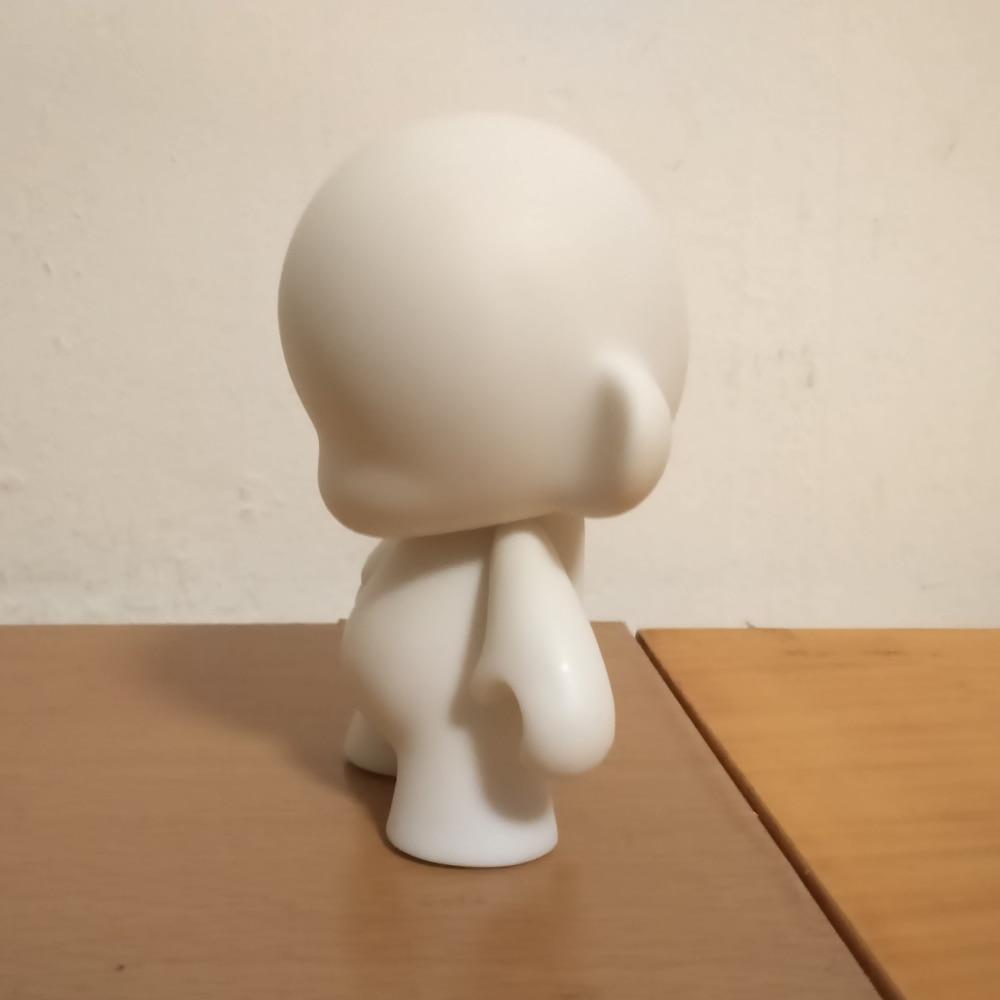 5 հատ 4 դյույմ Kidrobot munny սպիտակ սև DIY - Խաղային արձանիկներ - Լուսանկար 5