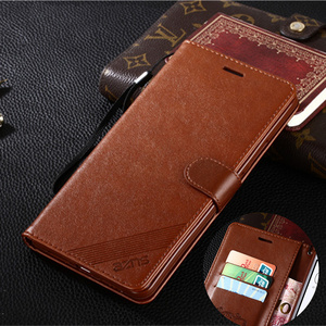 Leather Flip Wallet Case For X