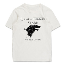Game of Thrones Stark Family T shirt Direwolf Short Sleeve Basic Tee Winter is coming