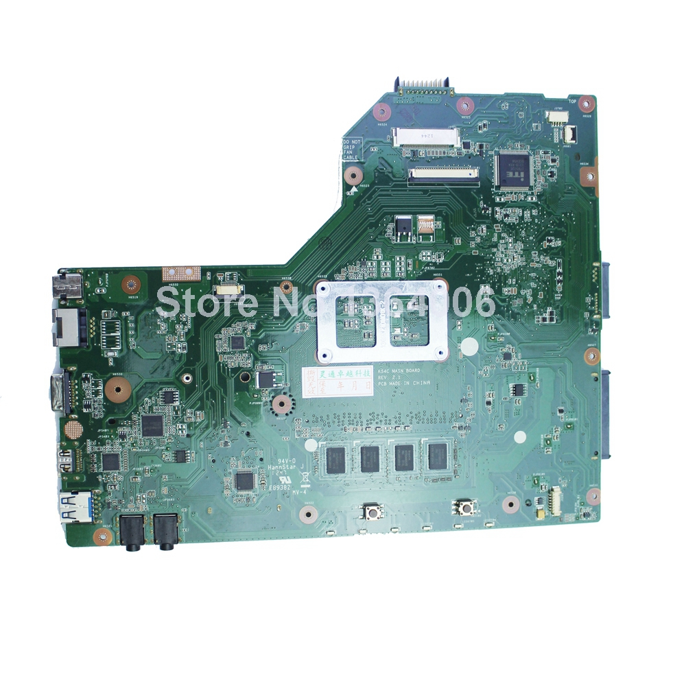 Original Notebook Motherboard X54C K54C for Asus REV 2.1 System pc Mainboard with ram on board  original notebook motherboard x54c k54c for asus rev 2 1 system pc mainboard with ram on board