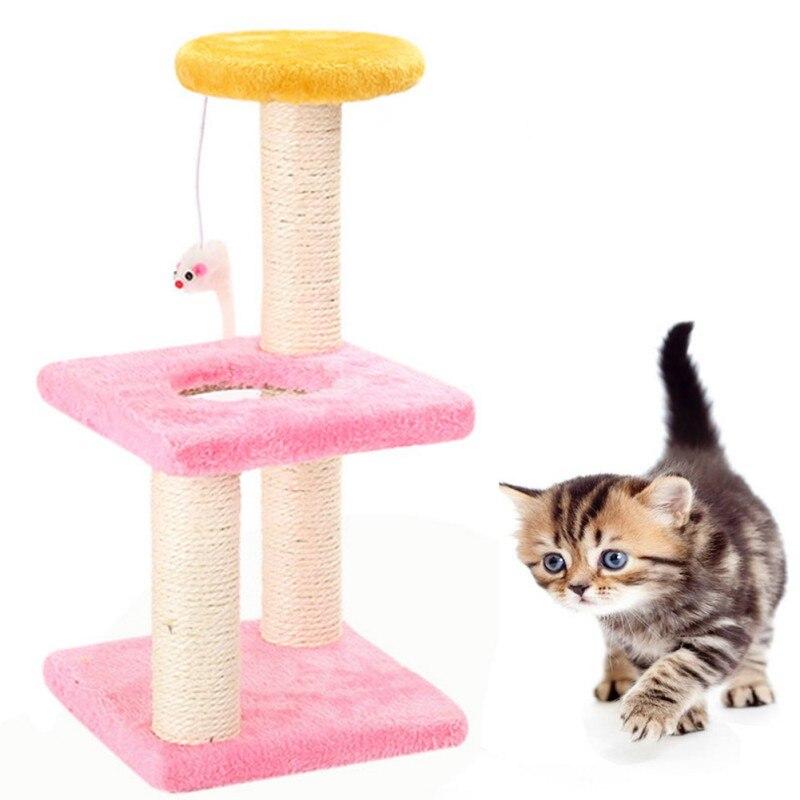 Nouvelle maison Pet 3 couches chat escalade arbre grattoir pôle conseil suspendu jouet activité Center chat saut tour pied meubles