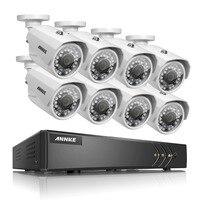ANNKE 8CH 1080P Lite 5in1 Security HD DVR 720P IP66 IR CUT 100ft Night View Cameras