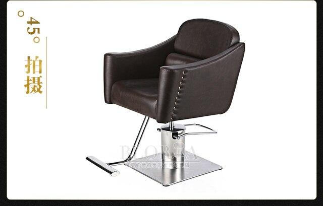 The new European hairdressing chair. Hair salons haircut chair. Barber chair.