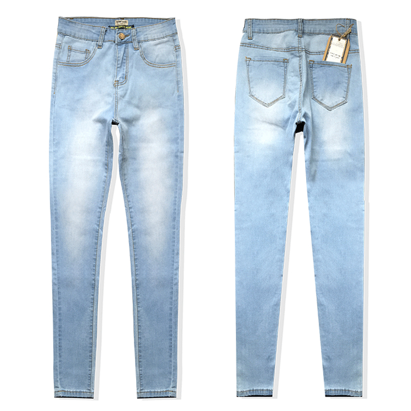 MOGE slim skinny jeans woman cotton blue Petite Jeans stretch white denim  pencil pant plus size jeans pantalones mujer-in Jeans from Men s Clothing  on ... 8ed84ce353c8