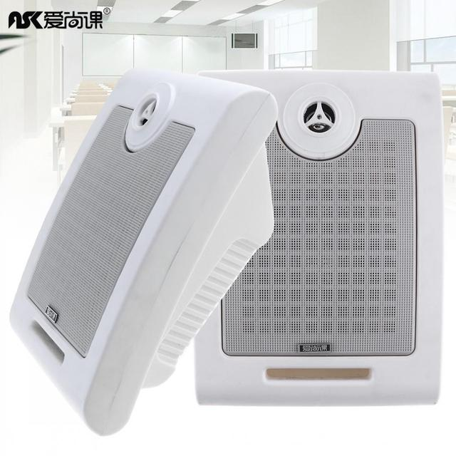 2pcs 10W Fashion Wall-mounted Ceiling Speaker Public Broadcast Music Loudspeaker for Park School Shopping Mall Railway Station