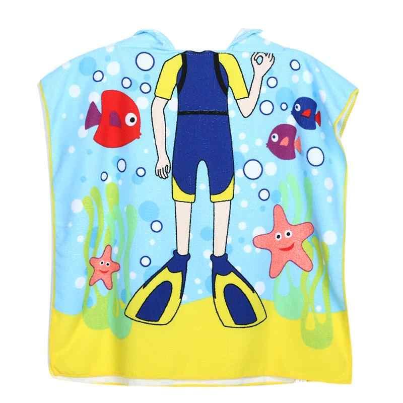 Frogman dzieci ręcznik plażowy kreskówki z kapturem chłopcy dziewczyna ręcznik kąpielowy dla dzieci szlafrok ręczniki plażowe dla dzieci płaszcz peleryna dziecko szlafrok