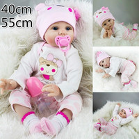 Bebe Reborn 55cm Soft Silicone Reborn Baby Dolls Lifelike Soft Cloth Body Newborn Babies Silicone Toys Kids Birthday Best Gifts