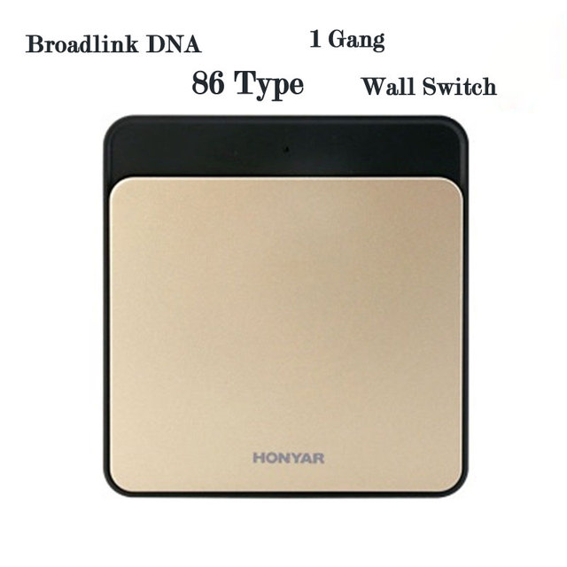 Smart Home Broadlink DNA,1/2 Gang Wireless Remote Control Light Switch,Touch Panel Smart Wall Switch,IOS Android Remote Control