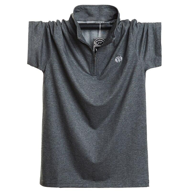 New 2019 Fashion Men Polo Shirt Cotton Short Sleeve Summer Breathable Shirt Men Cool Polo Shirts Casual Shirts 5XL 6XL Plus Size