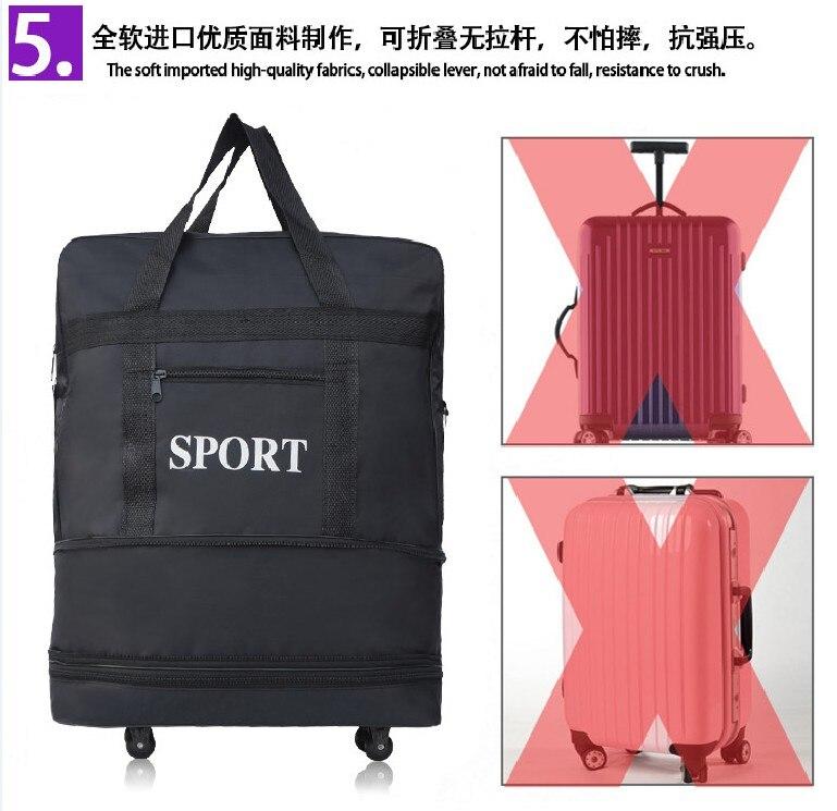sacos de bagagem com roda noite sacos durante a noite
