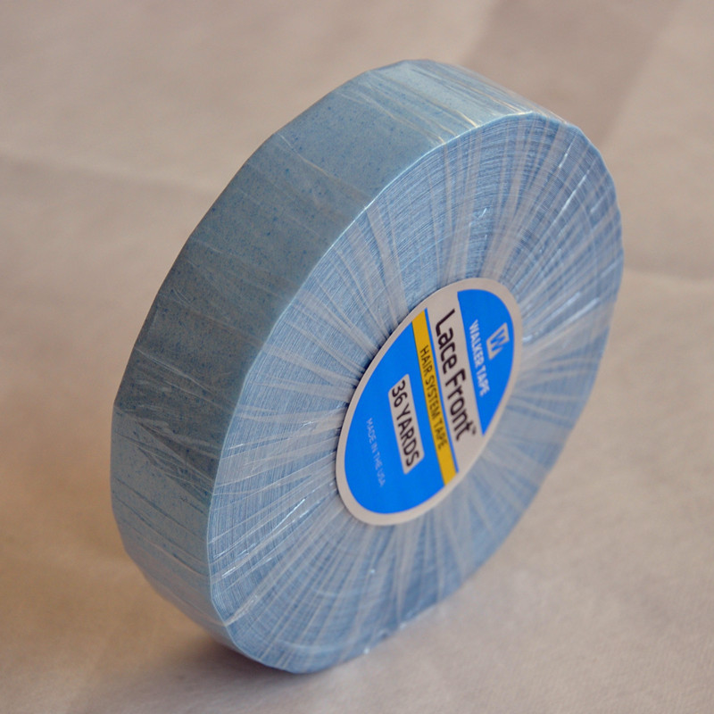 36yard Lace Front Support Blue Double Sided Tape For Hair ExtensionToupeeLace WigPu Extension