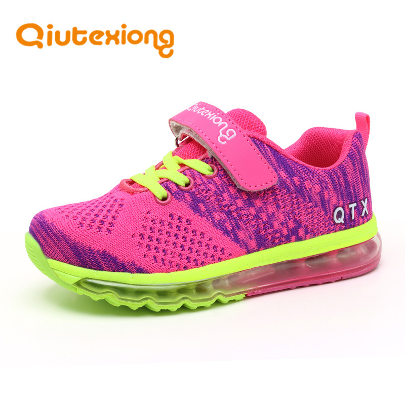 QIUTEXIONG Children Shoes For Girls Running Shoes Boys Sneakers Casual Shoes Children Sport Air Cushion Breathable Trainer Mesh 2016 new shoes for children breathable children boy shoes casual running kids sneakers mesh boys sport shoes kids sneakers