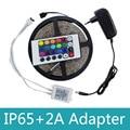Waterproof 5M SMD 3528 RGB LED Flexible Strip Light Kit 300LEDs 60LEDs/M+24Keys IR Remote Controller+DC 12V Power Supply Adapter