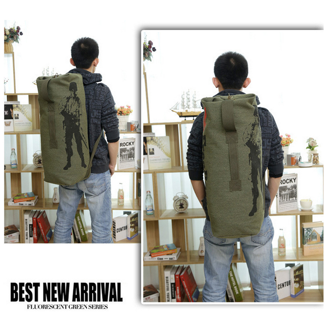 Travel Luggage Army Bag Canvas Camping Tactical Men Military Backpack