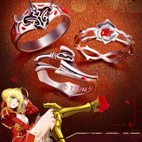 Fate EXTRA LastEncore Nero Ring Red Rose Silver 925 Silver Jewelry Kishinami Hakuno Claudius Hakuno Kishinami Aestus Estus Ring