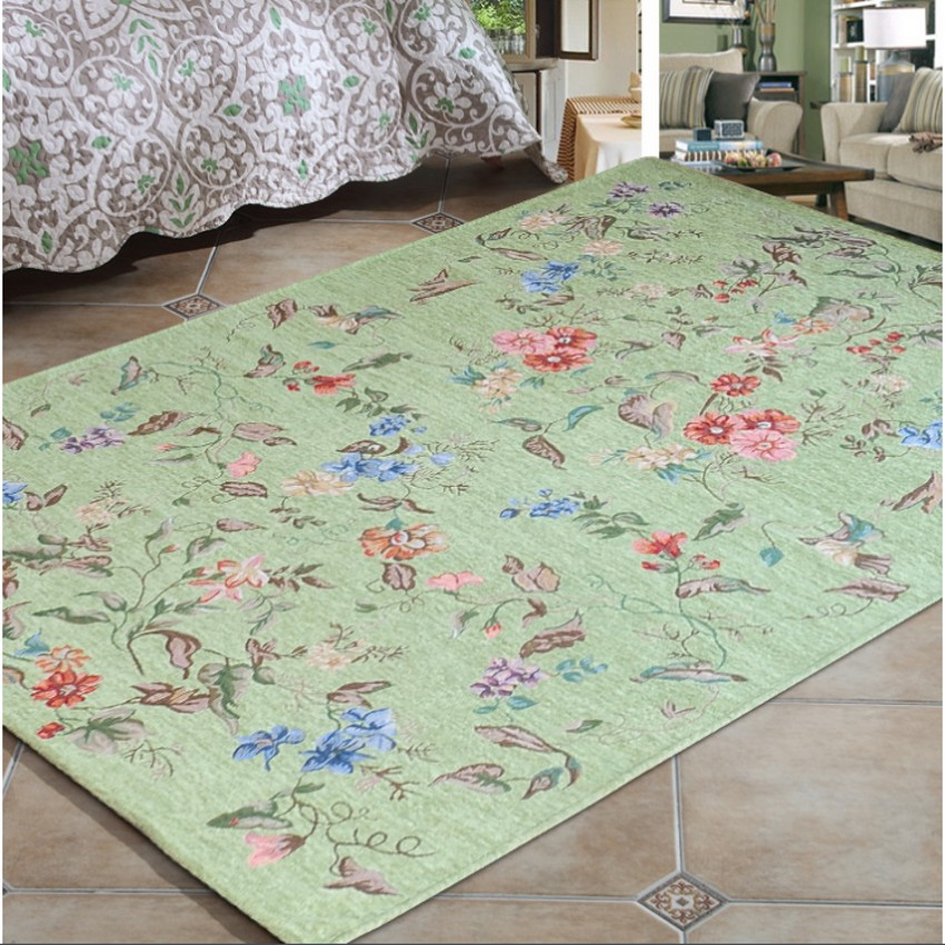 Смешанное покрытие, Florence Европейский стиль ковер, 140*200 см большие размеры гостиная журнальный столик ковер, серый, зеленый цвет земли коврик