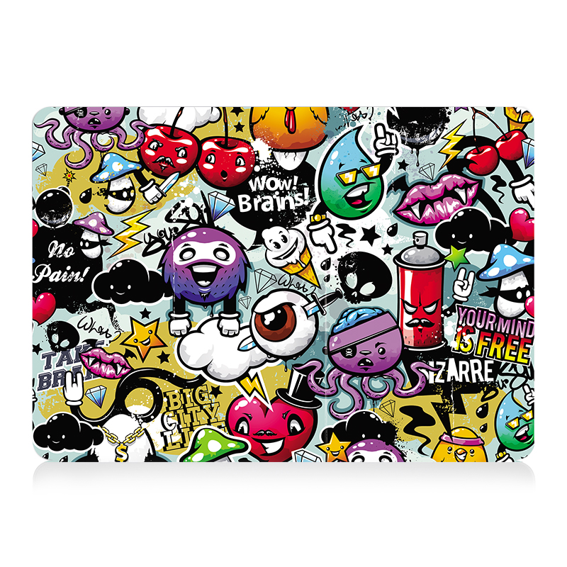 "Image 2 - MTT Graffiti Print Case For Macbook Air Pro Retina 11 12 13 15 inch With Touch Bar Laptop Bag Sleeve For macbook Air 13.3"" Cover-in Laptop Bags & Cases from Computer & Office"