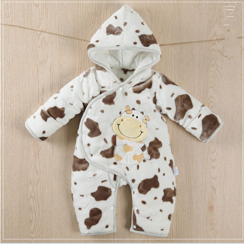 baby rompers autumn winter long sleeved hoodies coral fleece thicker warm baby clothes infant jumpsuit cotton warm sleeping bags warm thicken baby rompers winter long sleeve organic cotton autumn
