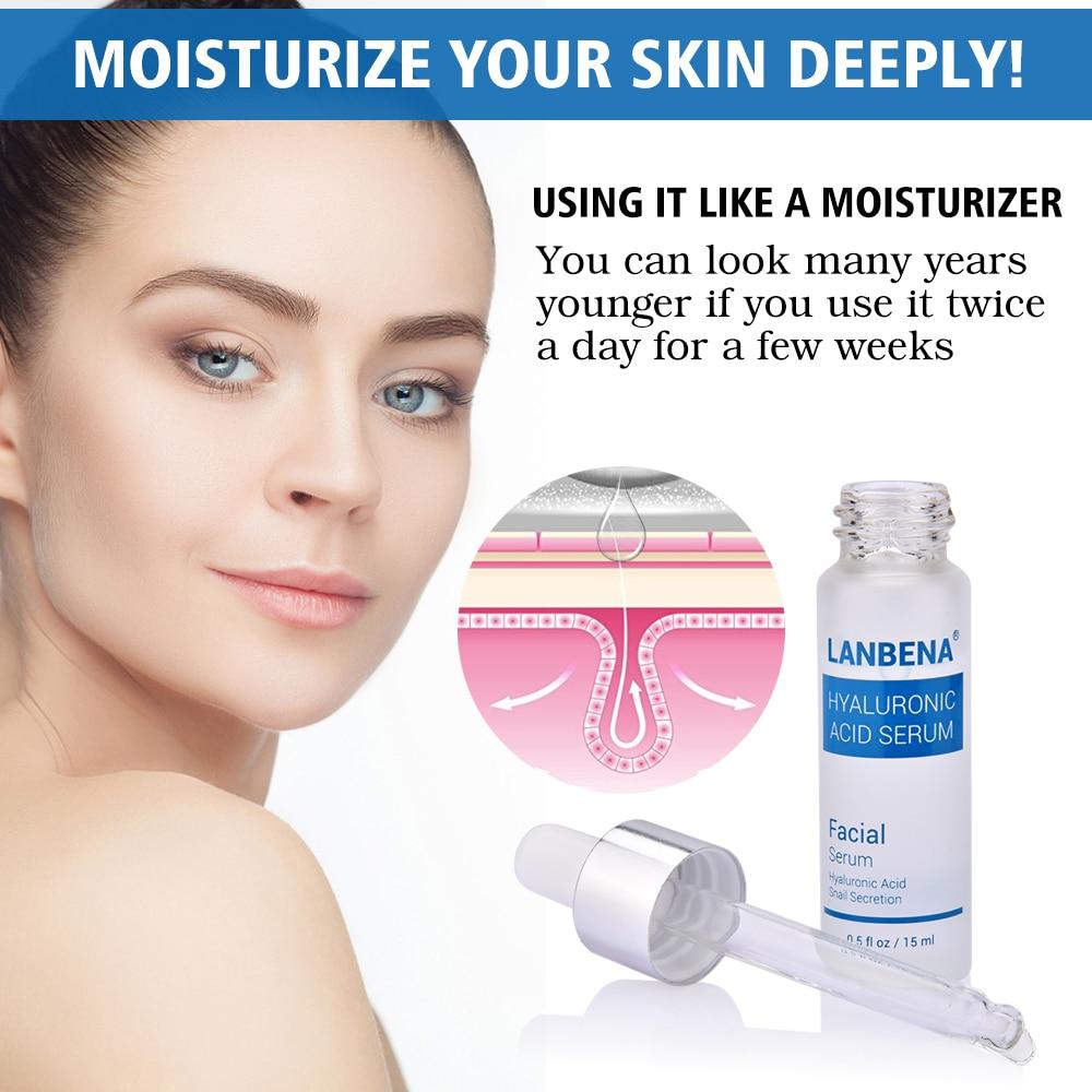 Hyaluronic Acid Serum Snail Serum Essence Acid Anti Wrinkles Face Acne Skin Repair Anti-Aging Moisturizing Whitening Skin Care  (4)