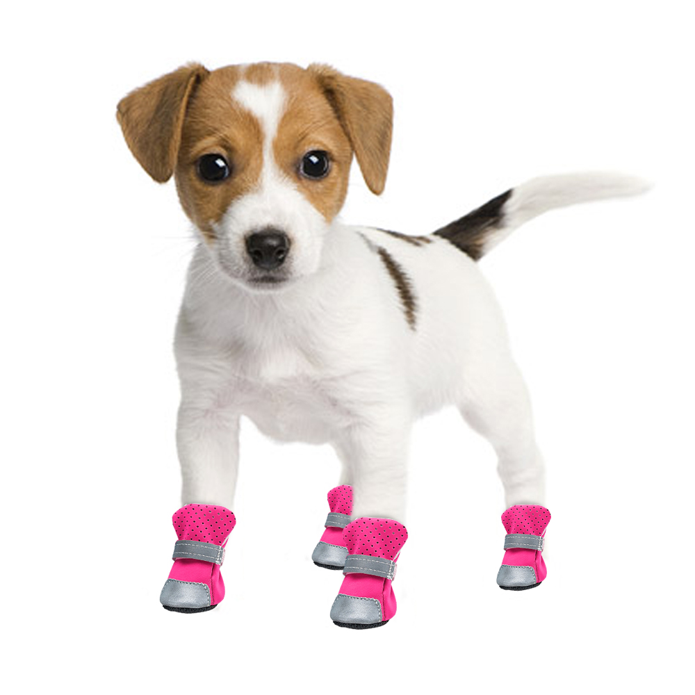 waterproof dog boots pink