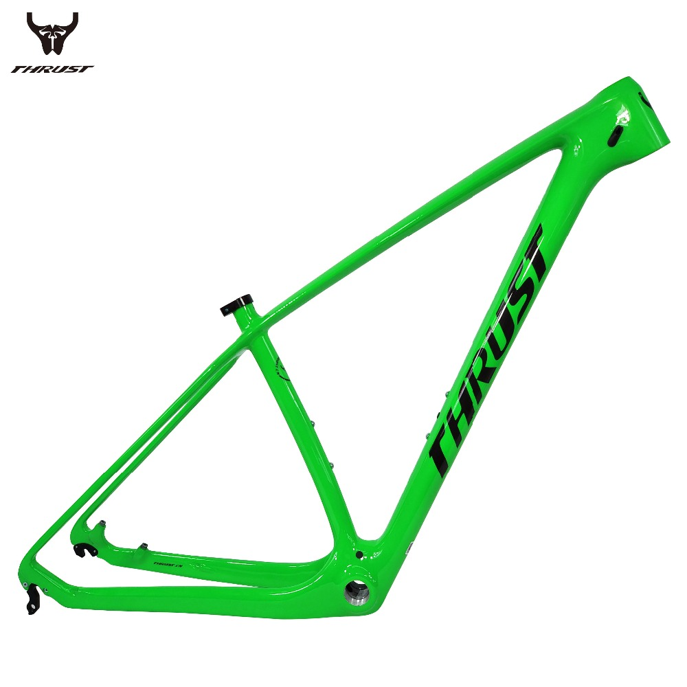 THRUST Carbon Fiber Mountain Bicycle Frame 29er 15 17 19 Matte Glossy Surface Carbon Bike Frame mtb BSA BB30 System Di2 Both стоимость