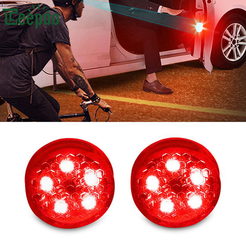 2Pcs/Pair Novelty Car Door Warning Light Flashing LED Universal Wireless Door Open Safety Flicker Anti Rear-end Collision proof
