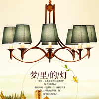 Vintage American Style Pendant Lamps Indoor Lighting Palatial Hemp E14 Sitting Room LED Coffee Parlour Lights